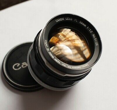 Classic Canon 58mm f1.2 FD Lens The lens appears to be working