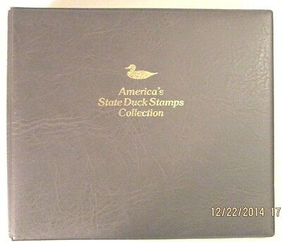 1987 America's State Duck Stamp Collection by Fleetwood, 42 new state stamps FV