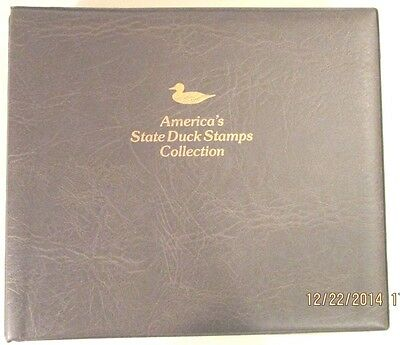 1988 America's State Duck Stamp Collection by Fleetwood, 42 new state stamps FV