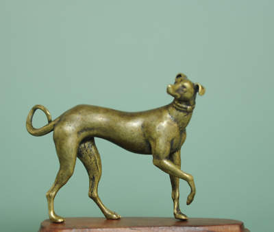 collect china old hand-made sculpture Copper dog antique Copper statue Ba02E