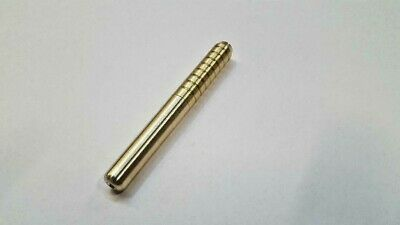 "One Real Brass Metal One Hitter Pipe  Dugout Bat 3"" Made In Usa !! Tobacco"