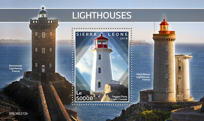 Sierra Leone Lighthouses Stamps 2019 MNH Peggys Point Light Architecture 1v S/S