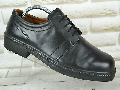 ECCO Comfort Mens Black Leather Casual Formal Lace-Up Shoes Size 8 UK 42 EU