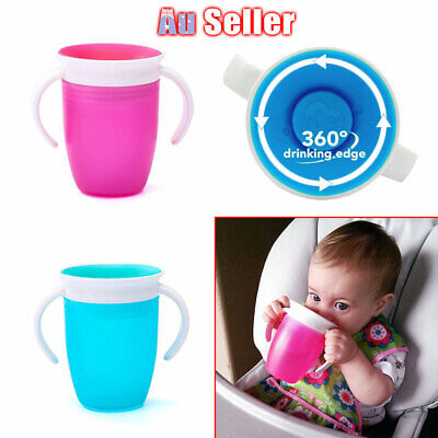 Non Sippy Proof Miracle Training Chew Baby 360Trainer Spill Toddler Cup