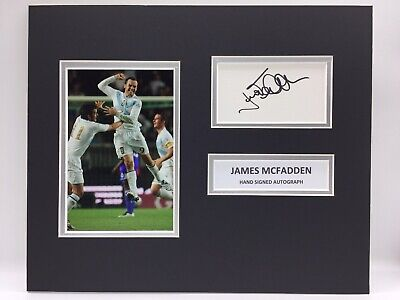 RARE James McFadden Scotland Signed Photo Display + COA AUTOGRAPH GOAL V FRANCE