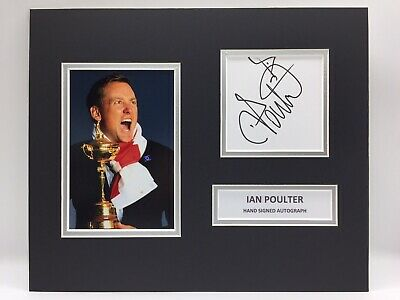 RARE Ian Poulter Golf Signed Photo Display + COA AUTOGRAPH RYDER CUP MASTERS
