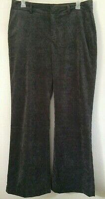 Coldwater Creek Crushed Velvet Pant Women's Size 16 Stretch Color Gray Boot Cut