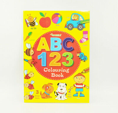 ABC 123 Colouring Book A4 Size - Learn to Write Letters Numbers Activity Book