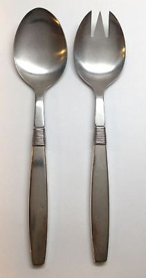 F. Hingelberg Denmark Silver Thread Sterling Silver Salad Serving Set