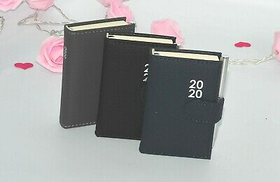 1x 2020 Pocket Diary, Day a Page Leatherette Magnetic with Clip