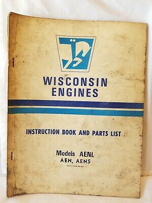 WISCONSIN Air Cooled Heavy Duty ENGINES Instruction Parts List MODELS AENL AENS