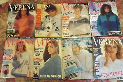 """8 Collectable """"Verena"""" Knitting Machine Books-German Exc Cond- I Will Post"""