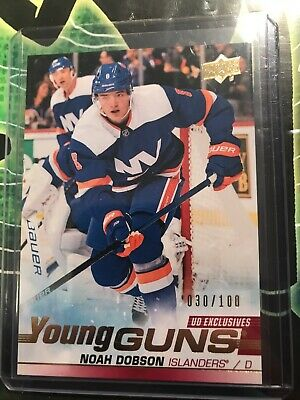 2019-20 UD Series 2 Exclusives Young Guns RC #481 Noah Dobson #30/100 Islanders
