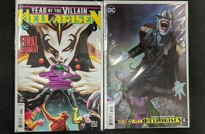 YEAR OF THE VILLAIN HELL ARISEN #4 (2020) Cover Set A + B FIRST PRINT DC Comics