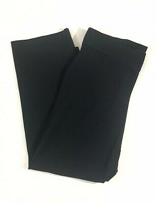 Women's Eileen Fisher Straight Washable Crepe Ankle Pants Black Size Medium