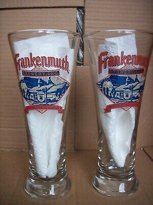Pair Frankenmuth Brewery, Inc. Pilsner Beer Glasses -  Since 1862 - Michigan