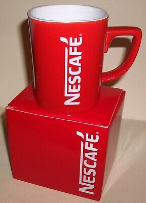 Nescafe Square Coffee Cup/ Mug/ Brand New/ Red & White