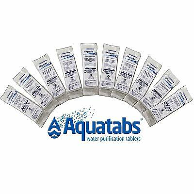 Aquatabs Water Purification 50 Tablet Tabs Survival Emergency FRESHEST EXP 01/25