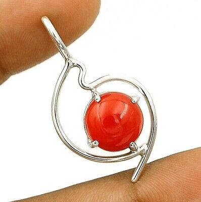 Natural Carnelian 925 Solid Sterling Silver Pendant Jewelry, EA18-5