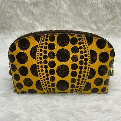 Louis Vuitton Yayoi Kusama Cosmetic Yellow Monogram Circles dots Pouch Clutch