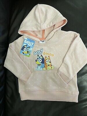 Bluey Hoodie Genuine Jumper Kids Girls Size 2 Hoody Pink Brand New With Tag