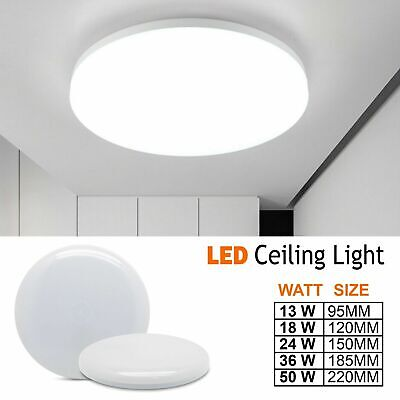 3//6//12//18//24W Round LED Ceiling DownLight Panel Wall Kitchen Bathroom Lamp Decor