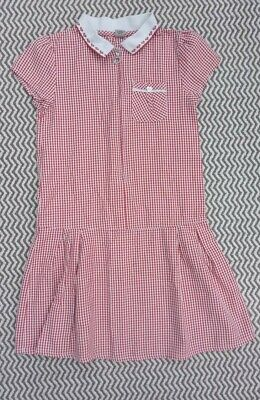 Girls Tu Red Summer Dress School Uniform Age 8