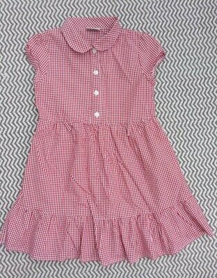 Girls Next Summer School Uniform Red Dress Age 7