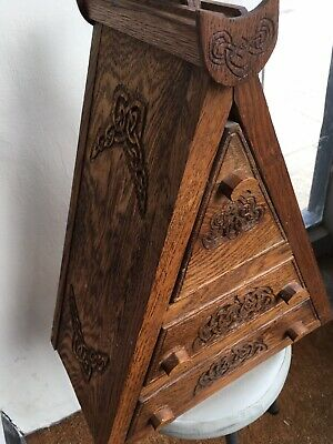 Carved Oak Small Chest Jewellery Hand Made
