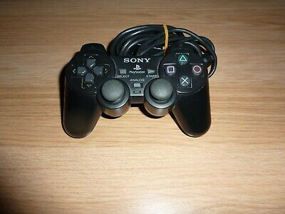 Sony Playstation 2 Ps2 Dualshock 2 Black Wired Controller