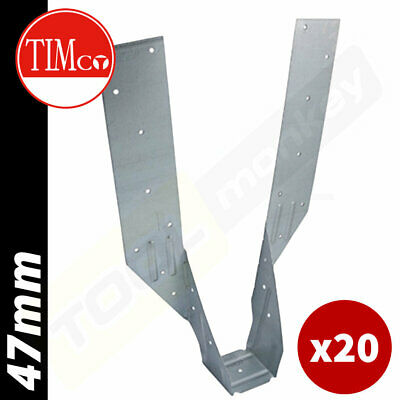 Heavy Duty Galvanised Joist Hanger 40mm 50mm 60mm Timber to Timber Free P/&P