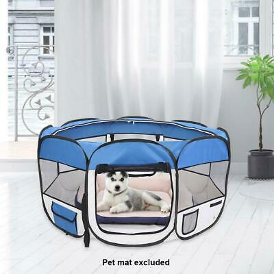 """New 45"""" Pet Dog Fence Puppy Soft Playpen Exercise Pen Folding Crate"""