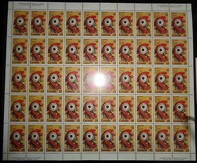 Canada - Mint Sheet Of 50 Stamps - Vfnh - Scott 685 - Olympic Art & Culture.
