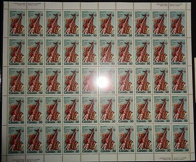 Canada - Mint Sheet Of 50 Stamps - Vfnh - Scott 686 - Olympic Arts And Culture
