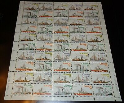 Canada - Mint Sheet Of 50 Stamps - Vfnh - Scott 776/779 - Ice Vessels.