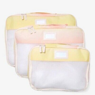 CALPAK Set of 3 Packing Cubes in Sorbet NEW Travel Suitcase Luggage Accessories