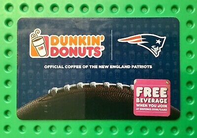 Dunkin Donuts Gift Card New England Patriots . No value. Free shipping