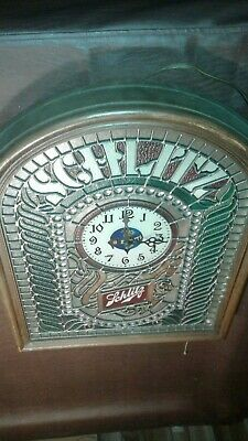 Vintage  Schlitz Beer Stained Glass Look Sign