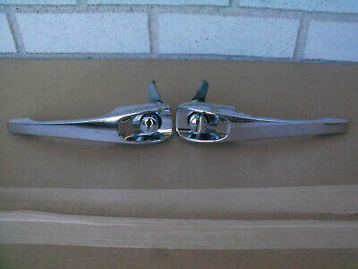 NEW Porsche 911 912 Outside Chrome Door Handle Set 2 Keys Dansk 1687100710