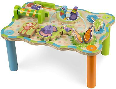 Melissa & Doug First Play Jungle Wooden Activity Table Baby Toddler Learning