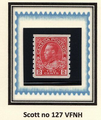 """Canada - Cat. Scott 127 - Xfnh - King George V """"Admiral Issue"""" - Coil."""