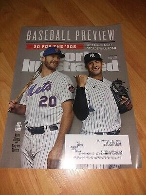 Sports Illustrated Magazine Baseball Preview MLB 2020 Spring Alonso Torres Cover