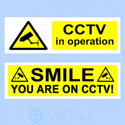 CCTV Camera Security Sign, Sticker - All Sizes Available - Choose Your Design