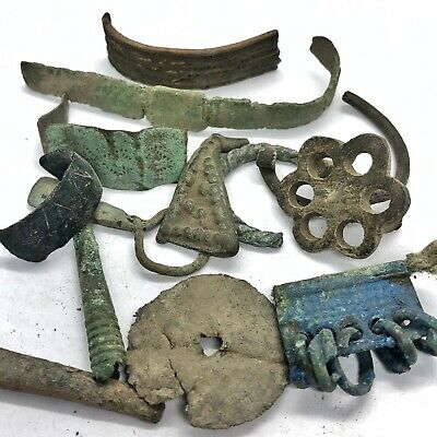 Ancient Bronze Viking Jewelry Fragments - Authentic Artifacts - 11th Century AD