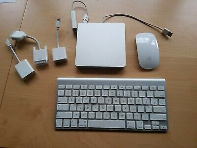 Apple keyboard, mouse, DVD & connectors