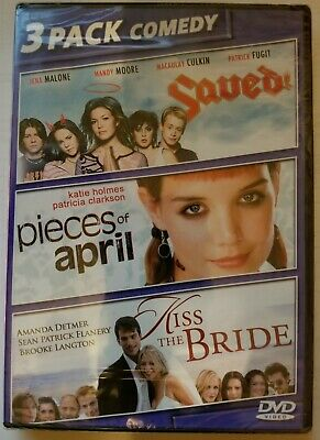 Saved, Pieces Of April, Kiss The Bride, 3 Pack Comedy New Dvd