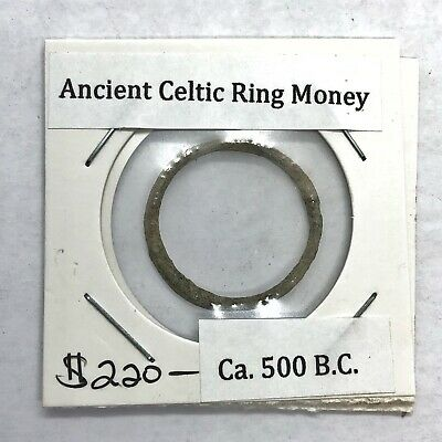 500-200 BC Ancient Celtic Ring Money Proto-Coin Authentic Artifact Currency Old