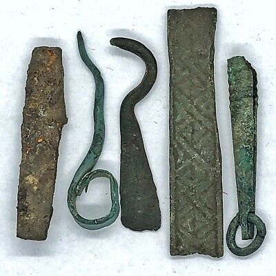 5 Authentic Medieval Norse Viking Scandinavian Brass Tools 800-1000 AD Artifacts