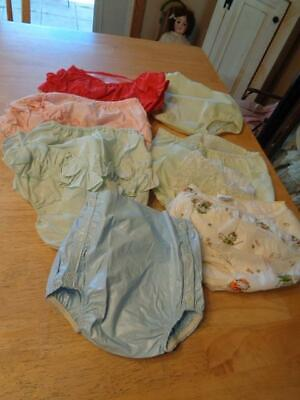 7 Pair Vtg. Baby/Toddler/Girls  Rubber Panties/Diaper Covers~USED~Some W/Ruffles