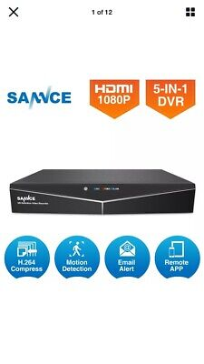 SANNCE HD 4CH 1080N 5in1 DVR CCTV Video Recorder Security HD for AHD/ TVI Camera